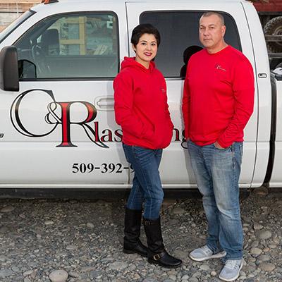 Julie Chavez and Derek Burns - Owner and Operator of C& R Plastering